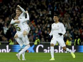 Real Madrid tem dois atletas pendurados na Champions League. EFE/Ballesteros