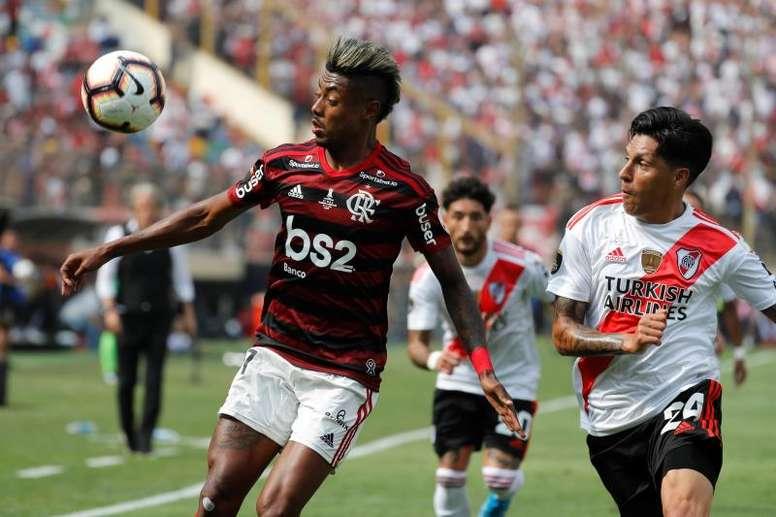 Enzo Pérez recordó la final de Lima. EFE/Antonio Lacerda