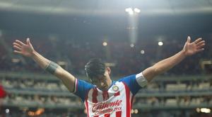 Alan Pulido, casi máximo goleador. EFE