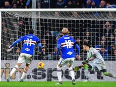 Gastón Ramírez culmina la remontada de la Sampdoria. EFE