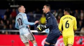 Iago Aspas admitió la superiordad del Villarreal. EFE