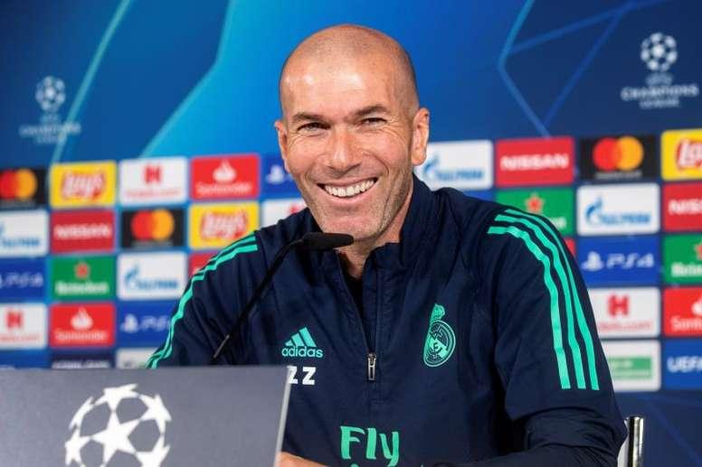 Zidane est sous le charme de Mbappé. EFE/Rodrigo Jiménez