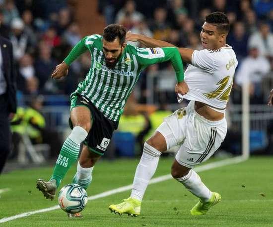 Borja Iglesias pense que le Betis peut embêter le FC Séville. EFE