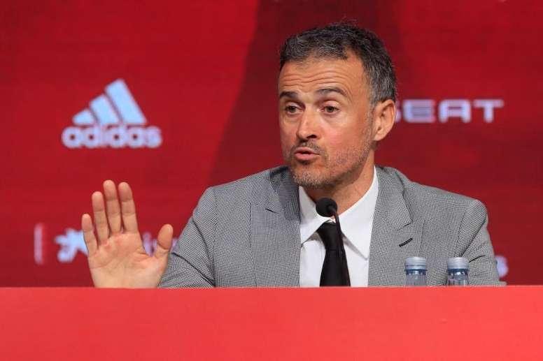 Luis Enrique fue presentado como nuevo entrenador de España. EFE/Ballesteros