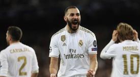 Benzema marcou dois gols, incluindo um golaço, contra o Valencia. EFE/ Rodrigo Jiménez/Arquivo