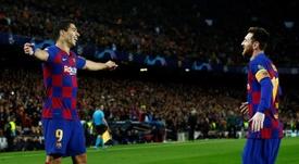 Messi y Suárez, de relax en Ibiza. EFE