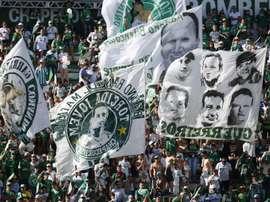 Chapecoense dio el pésame a Palmas. EFE/Archivo