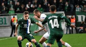 El Espanyol empató en Budapest para ser primero de grupo. EFE/EPA/Zsolt Szigetvary
