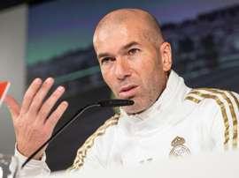 Zidane respondeu sobre as ausências de Vinicius e descartou saída. EFE/Rodrigo Jiménez
