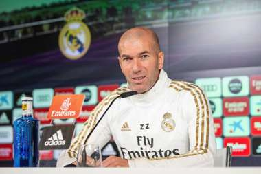 Zidane spoke about Madrid at the moment ahead of the visit to Mestalla. EFE
