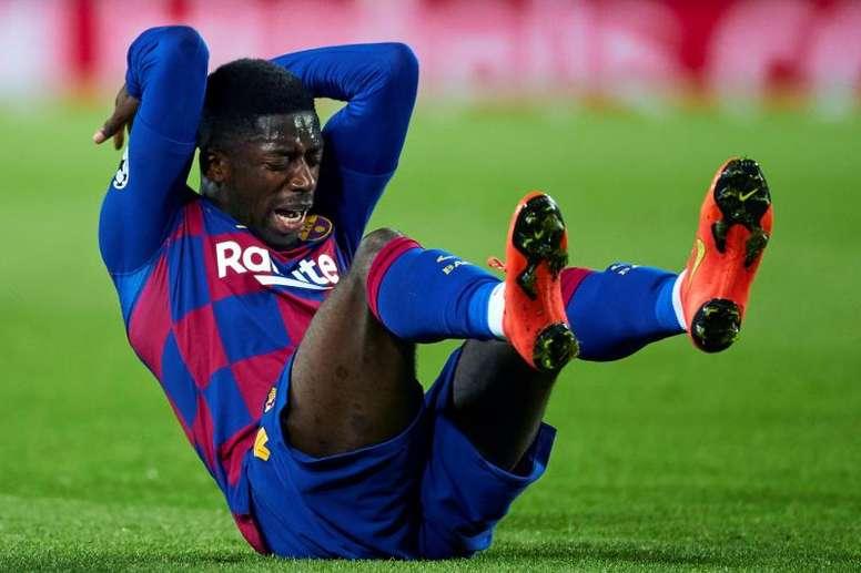 Dembélé no deja de sonar para salir del Barça. EFE