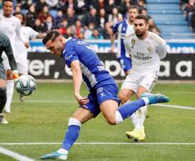 Lucas Pérez cree que el Alavés hizo un gran trabajo. EFE/David Aguilar