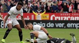 El Sevilla saca petróleo de sus goles. EFE/Julio Muñoz