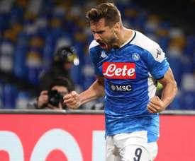 Fernando Llorente hizo el gol del Nápoles ante el Bologna. EFE/EPA