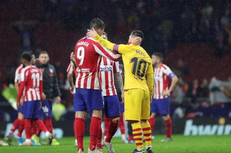 Gol de Messi, triunfo del Barça, derrota del Atleti. EFE