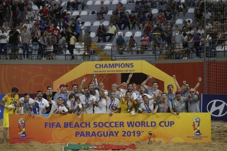 El fútbol playa sigue hablando portugués. EFE