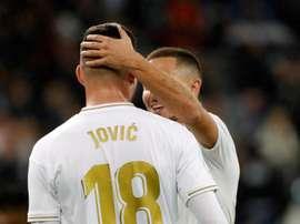 Jovic não está se destacando no Real Madrid. EFE/JuanJo Martín.