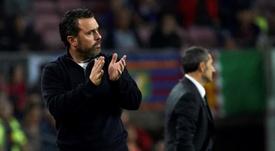 Sergio lamentó las ocasiones falladas en San Sebastián. EFE/Alejandro García/Archivo