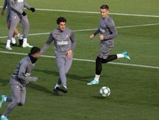 Giménez no estará ante el Villarreal, pero podría reaparecer ante el Lokomotiv. EFE