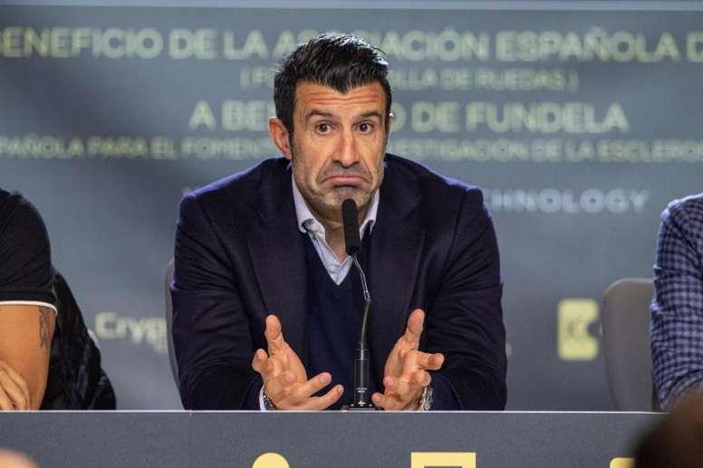 Figo cargó contra la Superliga. EFE/Rodrigo Jiménez