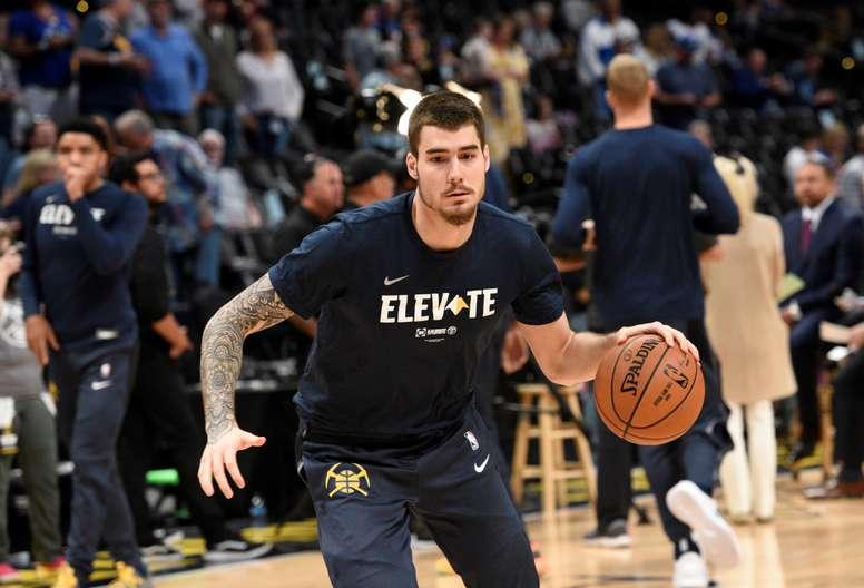 En la imagen, el jugador español de baloncesto Juancho Hernangómez, de los Nuggets de Denver. EFE/Todd Pierson/Archivo