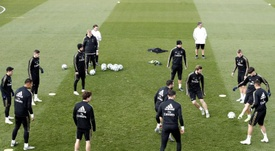 Real Madrid's reduced squad trains ahead of Espanyol visit. EFE