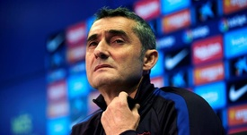 Valverde was not happy with two decisions which went against Barcelona. EFE