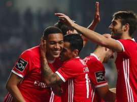 El Benfica llamó a ocho canteranos para el entrenamiento de este lunes. EFE