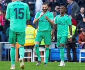 Zidane elogiou o esforço e o rendimento de Vinicius. EFE/Rodrigo Jiménez