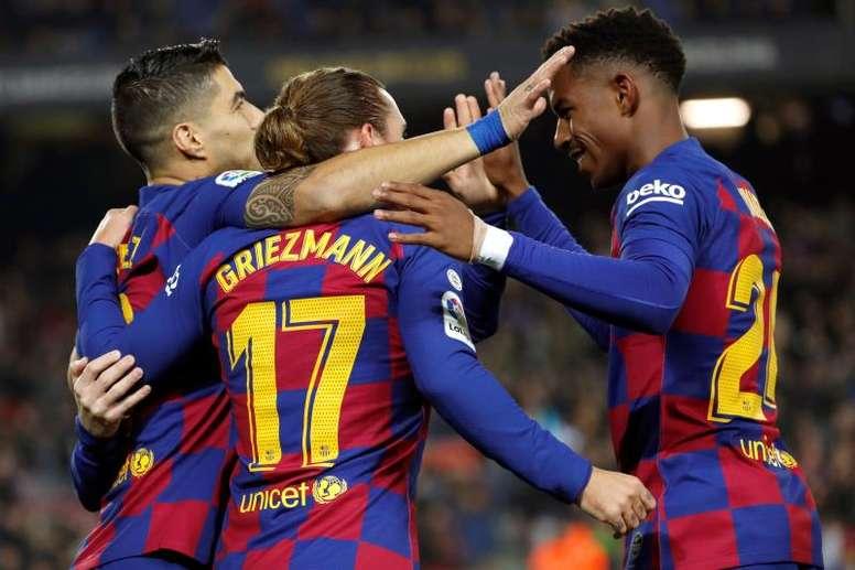 Les compos probables du match de Ligue des Champions entre l'Inter le Barça. EFE