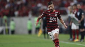 La chilena de De Arrascaeta, el mejor gol del Brasileirao. EFE/Marcelo Sayão/Archivo