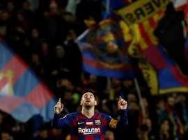 Messi falou sobre o clássico e não se esquece de Anfield. EFE