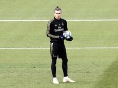 Bale regresó a los entrenamientos tras perderse el choque del Espanyol. EFE