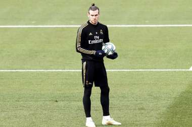 Bale returned to training after losing to Espanyol. EFE
