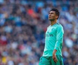 Casemiro será desfalque para Zidane contra o Mallorca. EFE/ Emilio Naranjo