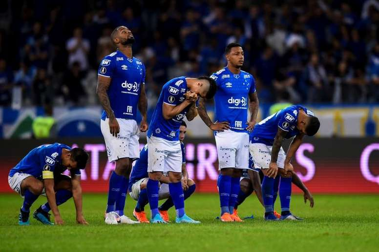 Cruzeiro estampa frases contra o racismo na camisa. EFE/Yuri Edmundo