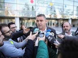 Ballesteros cargó duramente contra Javier Tebas. EFE/Ana Escobar