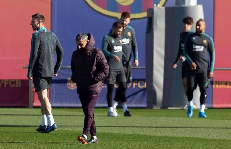 Confira a carta de despedida de Ernesto Valverde. EFE/Enric Fontcuberta