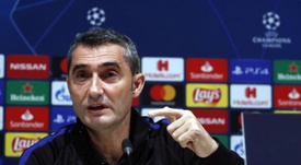 Valverde spoke to the press ahead of Barcelona's UCL clash with Inter. EFE