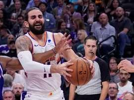 El jugador de Phoenix Suns, Ricky Rubio. EFE/EPA/JOHN G. MABANGLO/Archivo