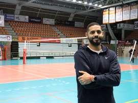 ThomasEreu, receptor y capitán del Club Voleibol Teruel, en una entrevista a Efe. EFE/Isabel Poncela