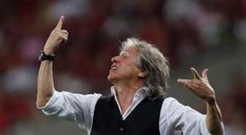Flamengo e Jorge Jesus acertaram renovação. EFE/Marcelo Sayão