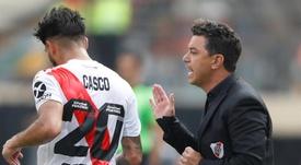 Gallardo confirmó que seguirá en River en 2020. EFE/Paolo Aguilar