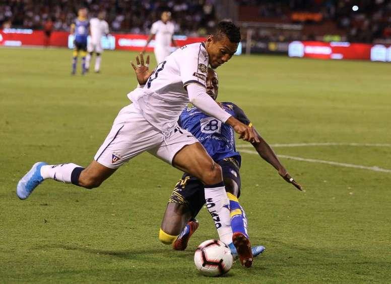 Liga de Quito no pudo con Delfín. EFE