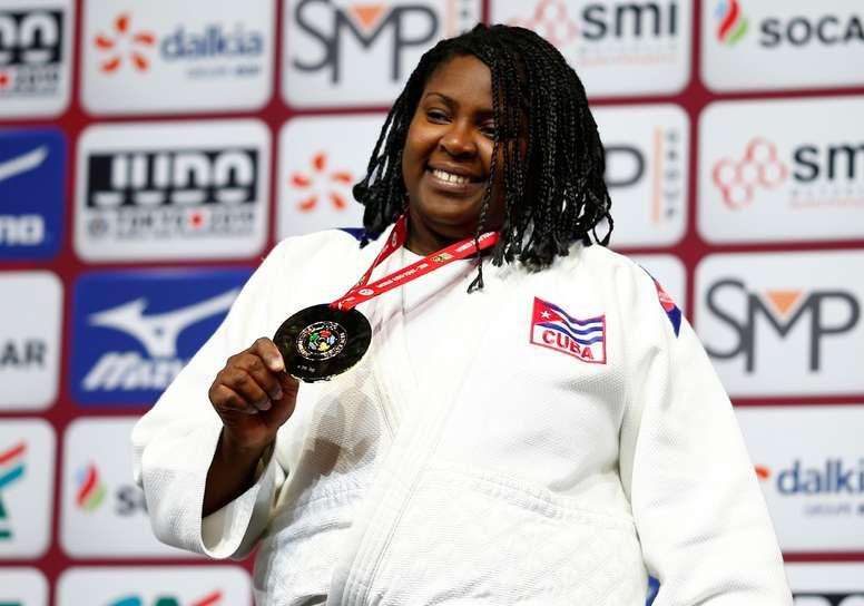 La judoca cubana Idalis Ortiz. EFE/EPA/IAN LANGSDON/Archivo