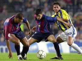Rivaldo, Saviola o Stoichkov, con el Barça Legends en Bogotá y Cali. EFE