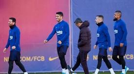 Al Barça le falta posesión. EFE