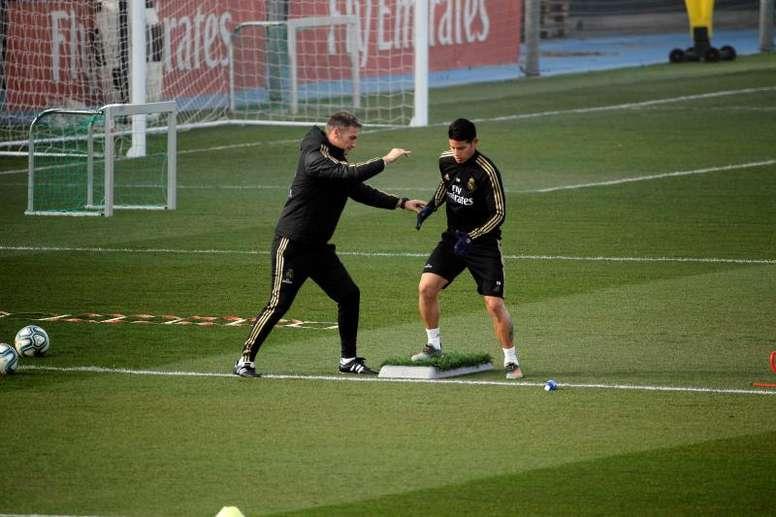 A James lo quiere Beckham en el Inter Miami. EFE