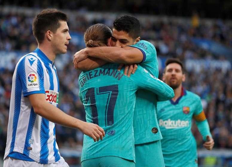 La Real neutralise le Barça et laisse la porte ouverte au Real Madrid. EFE
