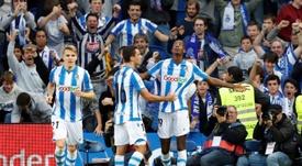 El Borussia Dortmund se frota las manos con Isak. EFE/ Juan Herrero